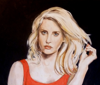 Sabine i rött linne