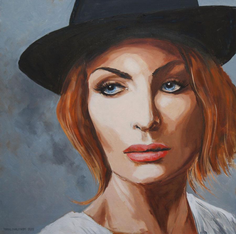 Porträttkonstnär Tomas Dahlström, Carolina Gynning